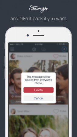 Strings Mobile App Allows Users To Delete Sent Messages, Photos, Videos From Recipients' Device