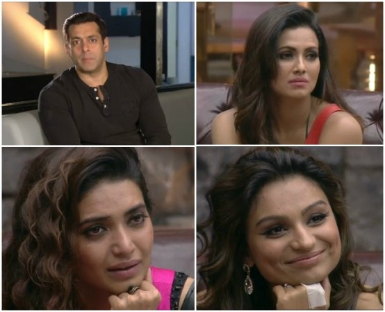Bigg Boss 8: Salman Khan's Emotional Video Message Makes Karishma, Dimpy, Sana Cry