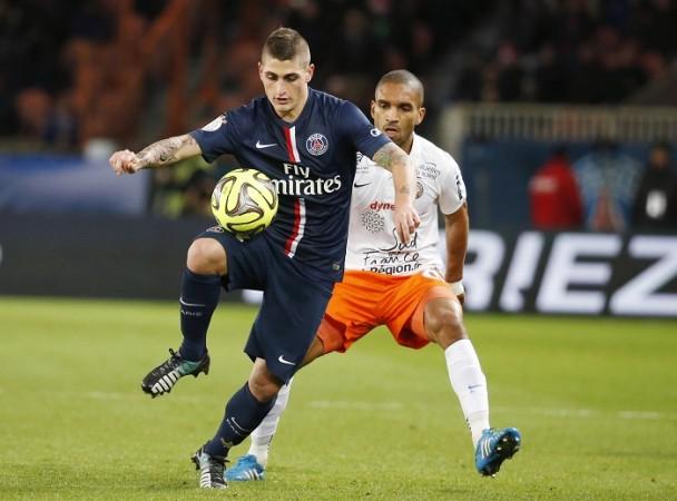 Marco Verratti PSG Joris Marveaux Montpellier