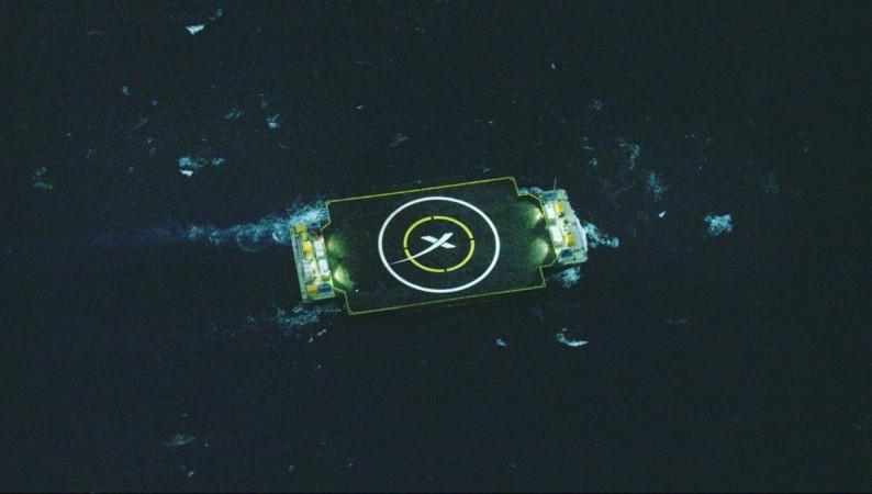 Falcon rocket landing in Atlantic Sea