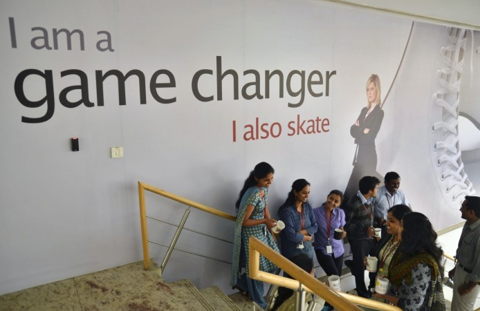 Employees at a firm in Bangalore