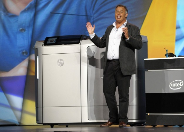 Dion Weisler, HP's EVP of printing and personal systems, shows off his company's new 3D printer at the Intel keynote at the International Consumer Electronics show (CES) in Las Vegas, Nevada January 6, 2015