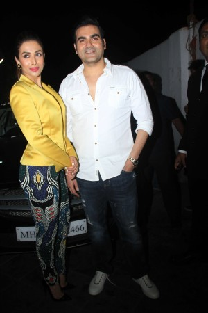 "Arbaaz Khan and Malaika Arora Khan during ""Dolly Ki Doli"" music launch"