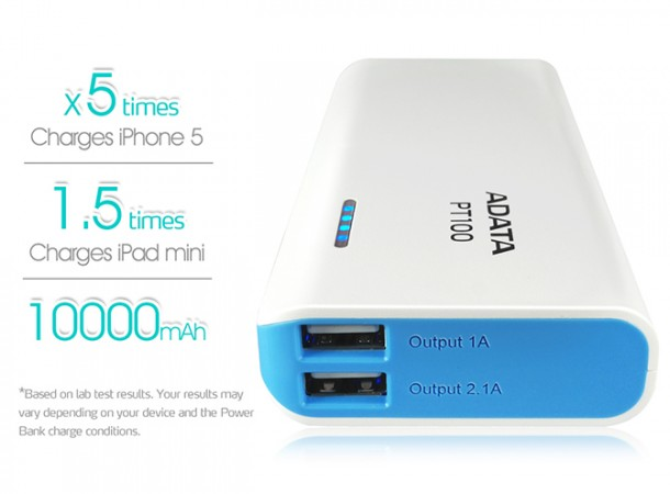 ADATA launches PT 100 Power Bank in India