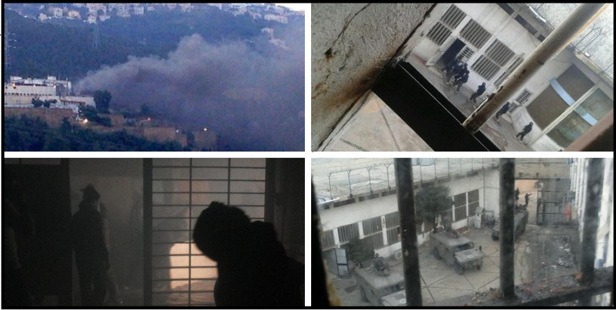 Images from the Roumieh prison show prisoners rioting,while security forces take up an operation to transfer Nusra and ISIS members from the notorious jail.