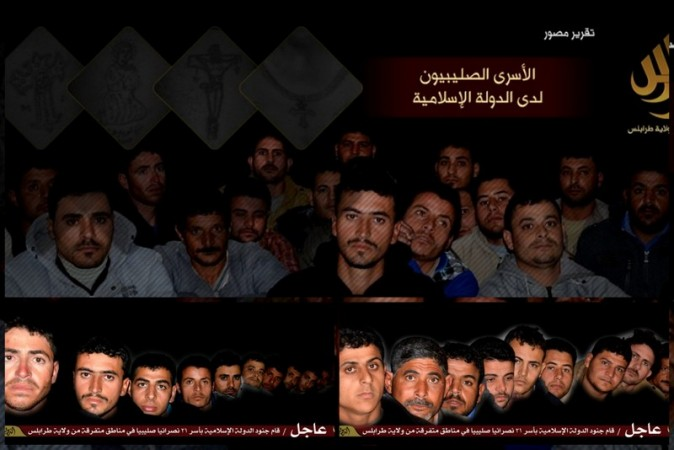 ISIS has released a picture showing the kidnapped Egyptian workers taken captive in Libya.