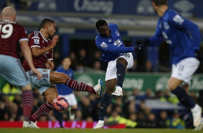 Romelu Lukaku Everton Winston Reid West Ham