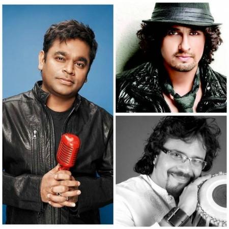 AR Rahman, Sonu Nigam and Bickram Ghosh