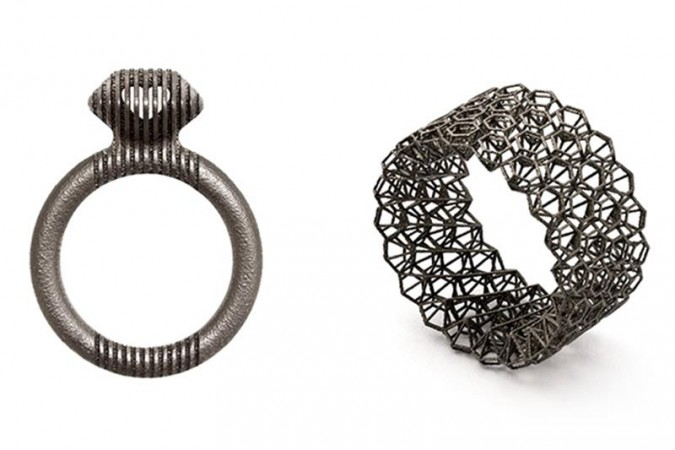 Cinnamon Lee's 3D printed titanium rings