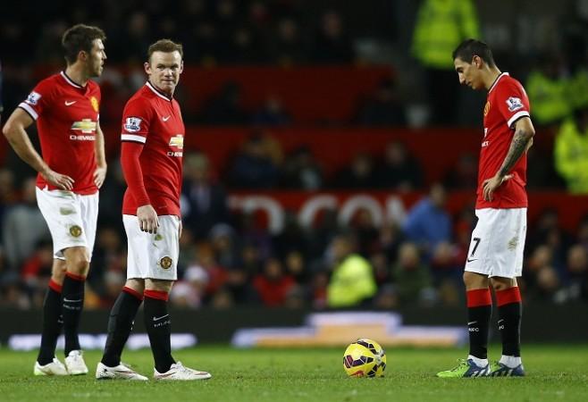 Michael Carrick Wayne Rooney Angel Di Maria Manchester United
