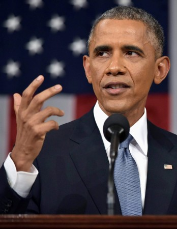 U.S. President Barack Obama delivers his State of the Union address to a joint session of Congress on Capitol Hill in Washington, January 20, 2015.