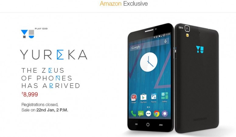 Micromax YU Yureka Flash Sale 2.0 to Kick-off on Amazon India on 22 January