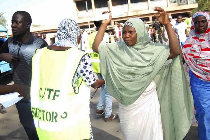 Displaced Nigerians fleeing from Boko Haram