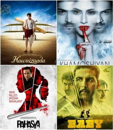 'Hawaizaada', 'Khamoshiyan', 'Rahasya' and 'Baby'