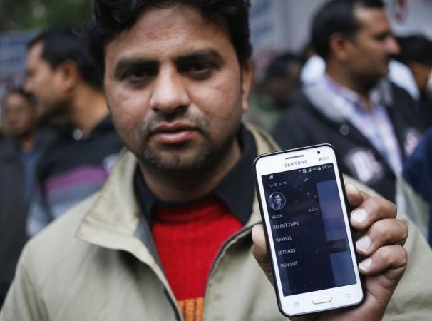 A taxi driver in Delhi