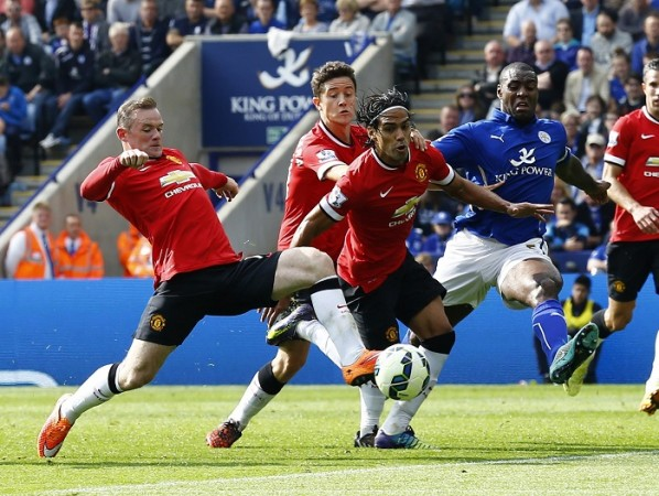 Manchester United Wayne Rooney Radamel Falcao Ander Herrera Leicester City Wes Morgan