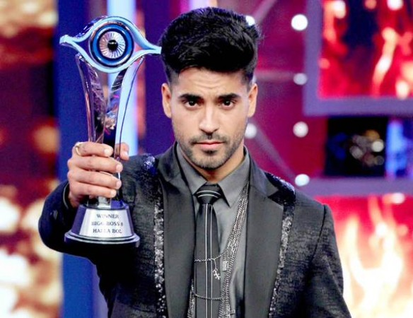 Gautam Gulati with Bigg Boss 8 Trophy