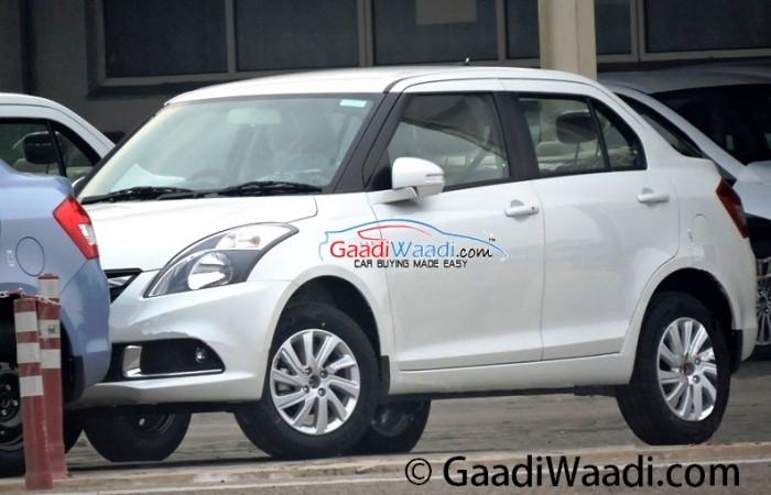 Maruti Suzuki Swift Dzire Facelift Spied Up Close