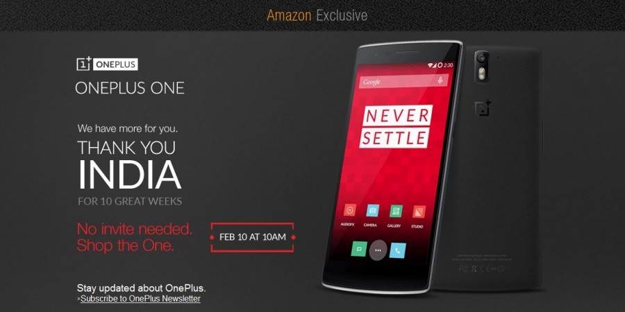 Top Smartphone Deal Alert: OnePlus One to go on Sale on Amazon India on 10 February; No Invites Required