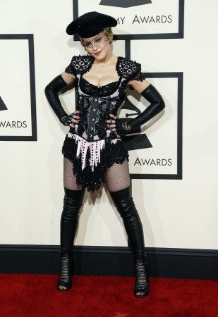 Madonna at Grammy Awards 2015.
