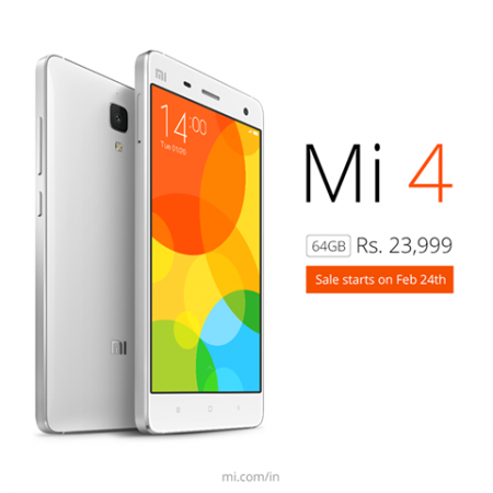 Xiaomi Mi4 64GB Price, Release In India: Flipkart To Sell New Variant For ₹23,999 on February 24