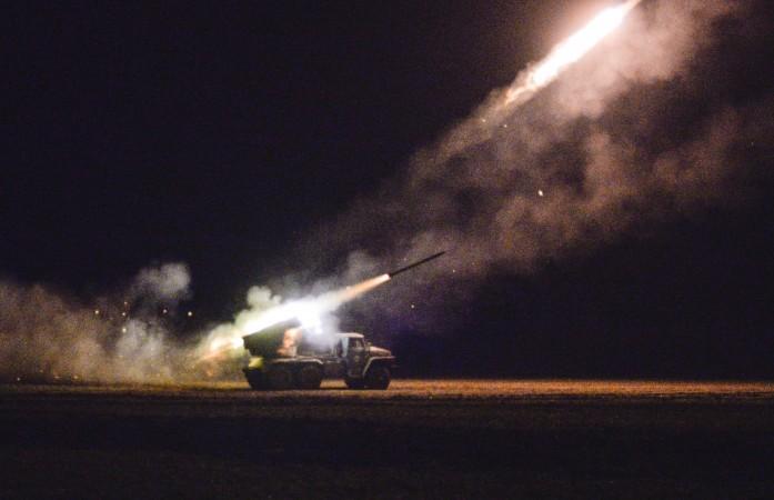 Ukrainian servicemen launch a Grad rocket towards pro-Russian separatist forces outside Debaltseve, eastern Ukraine February 8, 2015