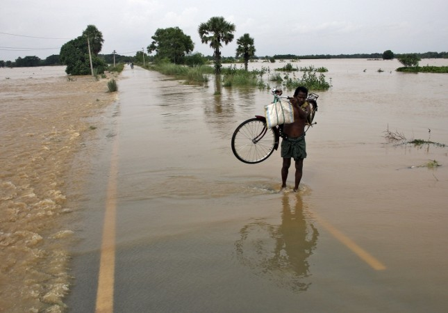 A flooded Indian road