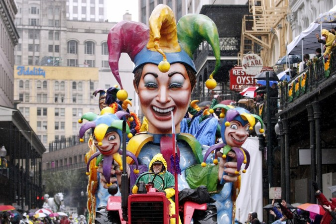 A float from the Krewe of Rex parade is seen on Mardi Gras in New Orleans, Louisiana March 4, 2014.