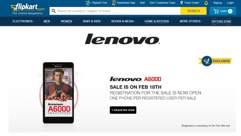 Lenovo A6000 Flash Sale 4.0 to Kick Start on 18 February; 20,000 Units up for Grabs