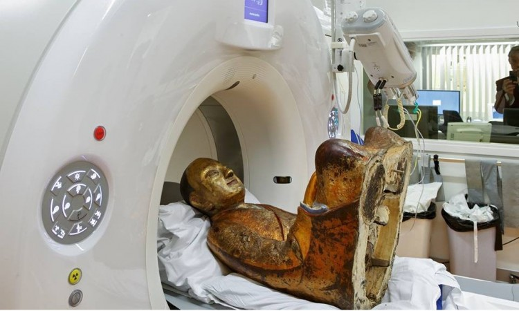Mummified monk inside Buddha statue