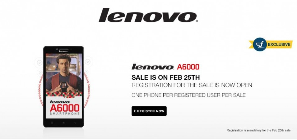 Lenovo A6000 Flipkart Flash Sale 5.0 to Kick-off on 25 February; 25,000 Units up for Grabs