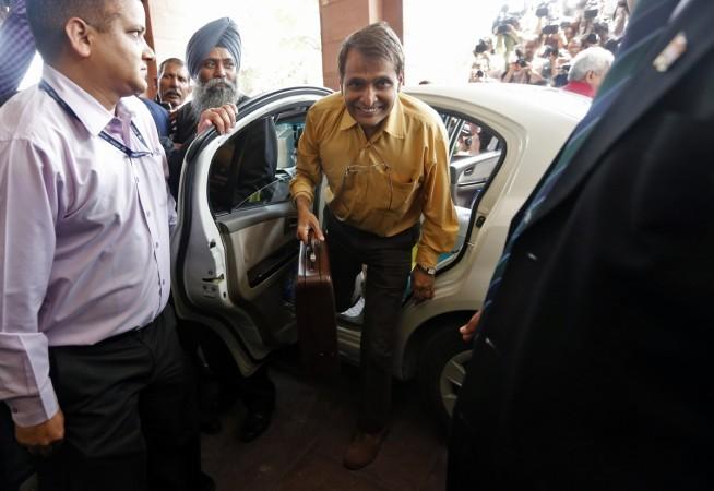 Indian Railway Minister Suresh Prabhu