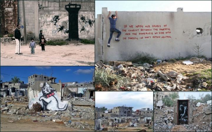 Banksy art in Gaza
