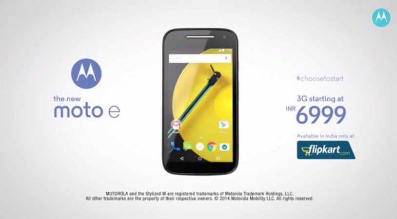 Motorola Moto E (Gen 2) India Price Revealed; Soon to Release via Flipkart