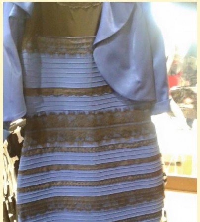 Confusion over the exact colour of the dress appearing in a picture in Tumblr has triggered a frenzied atmosphere.