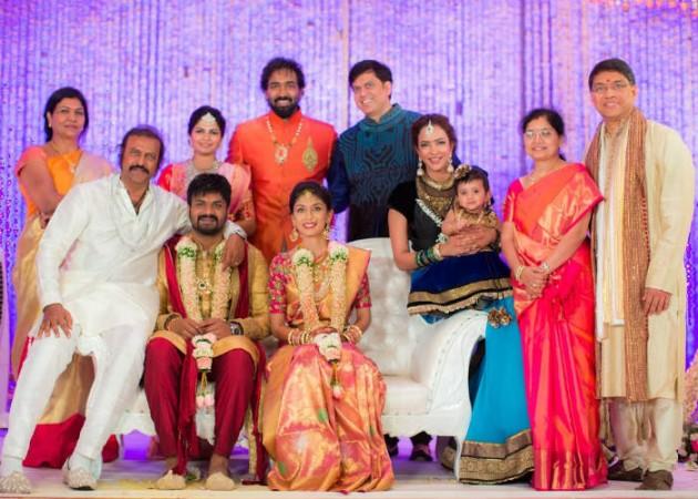 Manchu Family at Manoj's Engagement