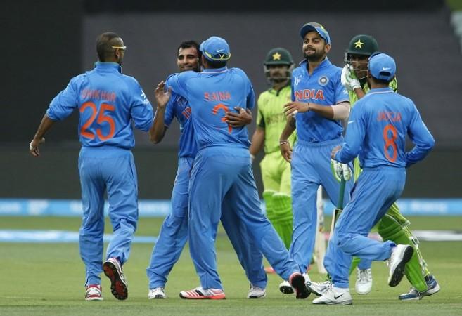 Mohammad Shami Shikhar Dhawan Virat Kohli India Pakistan World Cup