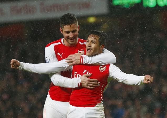 Alexis Sanchez and Olivier Giroud