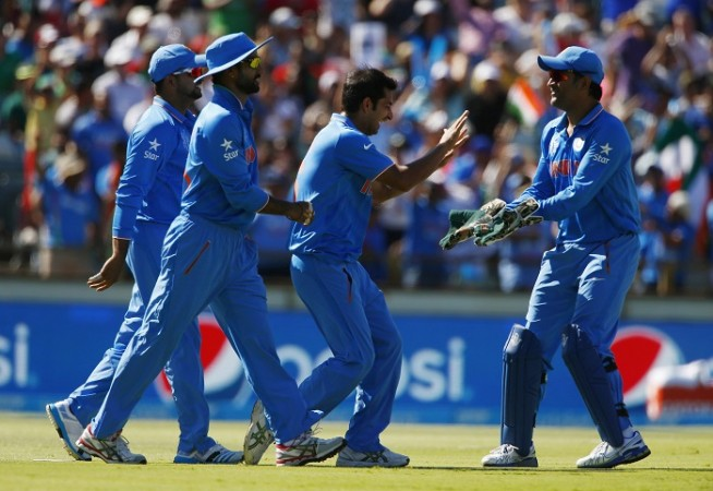 India Mohit Sharma MS Dhoni ICC Cricket World Cup 2015