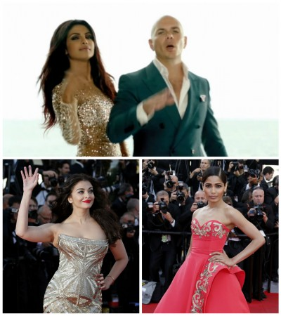 Priyanka Chopra, Pitbull, Freida Pinto, Aishwarya Rai Bachchan