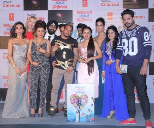Jazzy B and Hard Kaur at Dilliwali Zaalim Girlfriend music launch