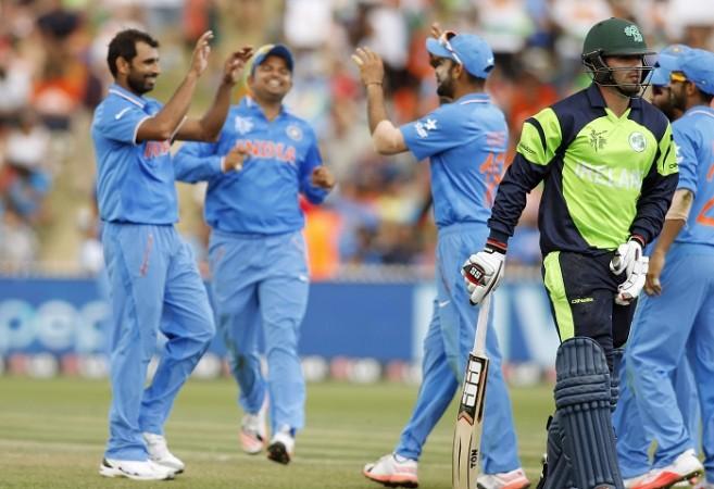Mohammed Shami India Stuart Thompson Ireland ICC Cricket World Cup 2015