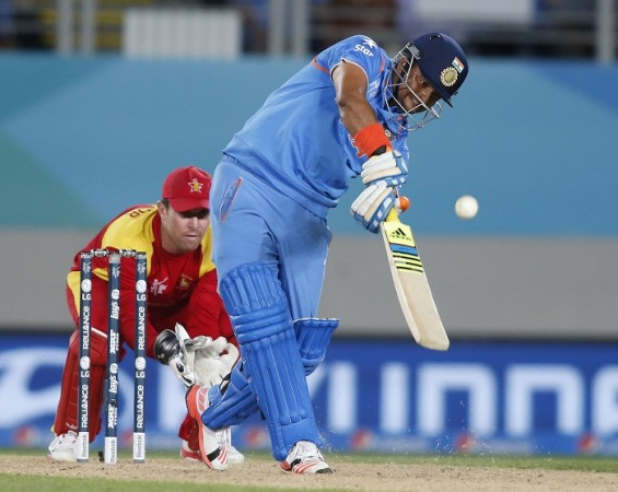 Suresh Raina India Brendan Taylor Zimbabwe ICC Cricket World Cup 2015