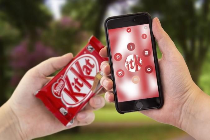 Blippar searching on KitKat Chocolate