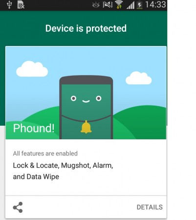 Kaspersky Phound Android Interface