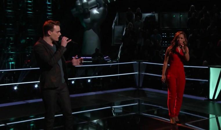 "India Carney and Clinton Washington perform Rihanna's ""Stay"" on The Voice US Season 8"