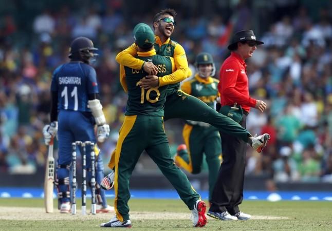 JP Duminy Faf Du Plessis South Africa Sri Lanka ICC Cricket World Cup 2015