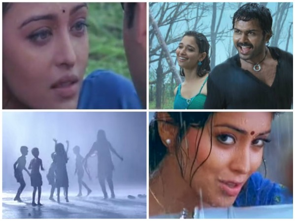 Popular Tamil Songs Shot in the rain