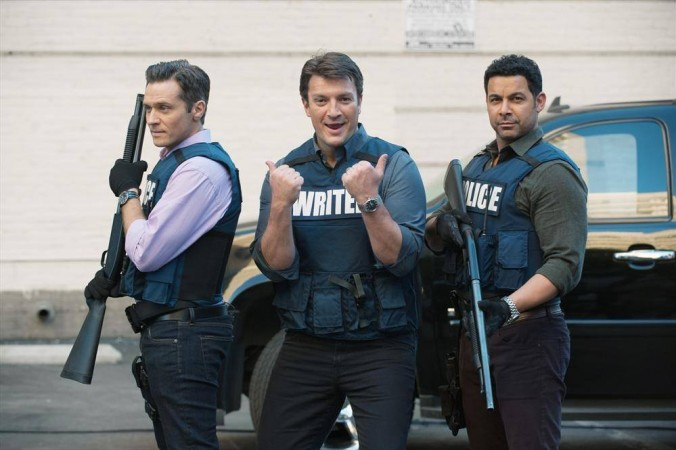 Seamus Dever, Nathan Fillion and Jon Huertas