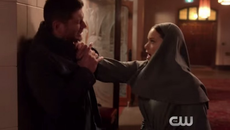dean and 'hot' nun in paint it black